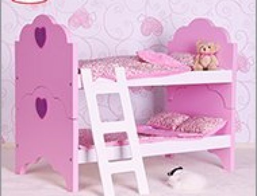 Bunk Bed For Twin Dolls Fits 18 Inch Dolls American Girl Doll Furniture Wooden Toy Factory Wooden Educaional Toy