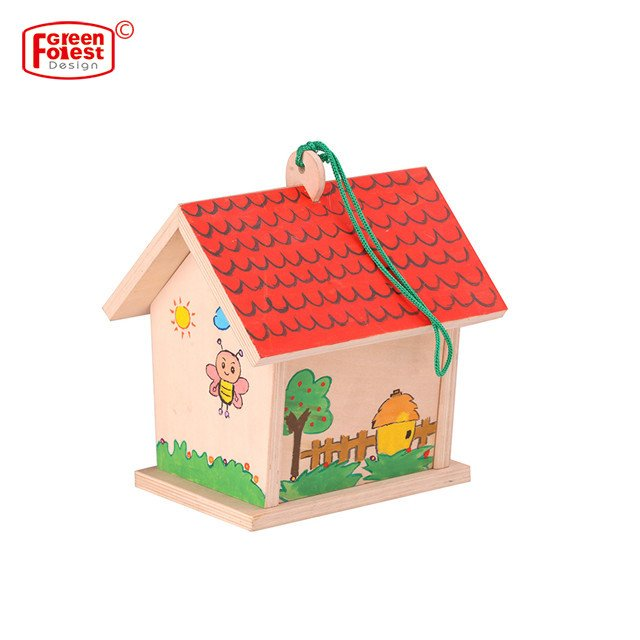 wooden chinese garden bird house outdoor wood kit new unfinished for painting