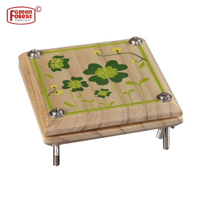 Kid Flower and Leaf Press Nature Craft Happy Time Wooden Art Outdoor Play Learning Educational Toy for kid Gift